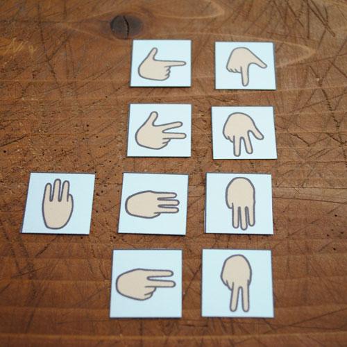 似た指文字たち