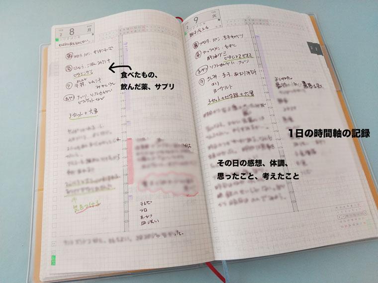 ジブン手帳デイズ 使用例